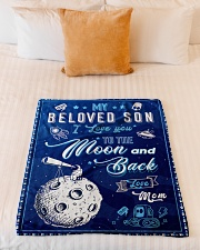 """BL10040 - To My Son Love You To The Moon Small Fleece Blanket - 30"""" x 40"""" aos-coral-fleece-blanket-30x40-lifestyle-front-04"""