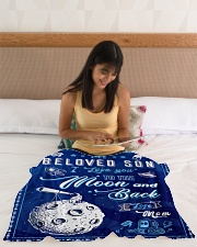 """BL10040 - To My Son Love You To The Moon Small Fleece Blanket - 30"""" x 40"""" aos-coral-fleece-blanket-30x40-lifestyle-front-12"""