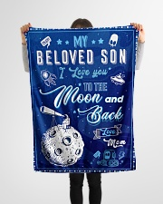 """BL10040 - To My Son Love You To The Moon Small Fleece Blanket - 30"""" x 40"""" aos-coral-fleece-blanket-30x40-lifestyle-front-14"""