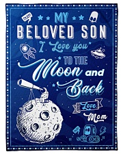 """BL10040 - To My Son Love You To The Moon Small Fleece Blanket - 30"""" x 40"""" front"""