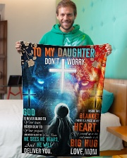 """Jes10090 - God Is Never Blind To Your Tears Small Fleece Blanket - 30"""" x 40"""" aos-coral-fleece-blanket-30x40-lifestyle-front-09"""