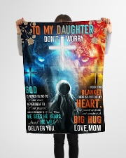 """Jes10090 - God Is Never Blind To Your Tears Small Fleece Blanket - 30"""" x 40"""" aos-coral-fleece-blanket-30x40-lifestyle-front-14"""