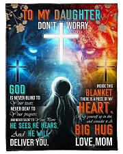"""Jes10090 - God Is Never Blind To Your Tears Small Fleece Blanket - 30"""" x 40"""" front"""