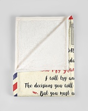 """FBL10055 To My Grandson Letter Family Small Fleece Blanket - 30"""" x 40"""" aos-coral-fleece-blanket-30x40-lifestyle-front-17"""