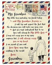 """FBL10055 To My Grandson Letter Family Small Fleece Blanket - 30"""" x 40"""" front"""
