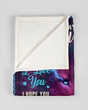 """BL10046 - To My Daughter Dad Letter Wolf Small Fleece Blanket - 30"""" x 40"""" aos-coral-fleece-blanket-30x40-lifestyle-front-17"""