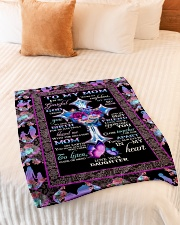 """FAM10118BL - To My Mom I'm So Grateful Daughter Small Fleece Blanket - 30"""" x 40"""" aos-coral-fleece-blanket-30x40-lifestyle-front-01"""