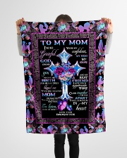 """FAM10118BL - To My Mom I'm So Grateful Daughter Small Fleece Blanket - 30"""" x 40"""" aos-coral-fleece-blanket-30x40-lifestyle-front-14"""