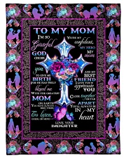 """FAM10118BL - To My Mom I'm So Grateful Daughter Small Fleece Blanket - 30"""" x 40"""" front"""