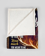 """BL10065 - To My Son Dad Letter Deer Small Fleece Blanket - 30"""" x 40"""" aos-coral-fleece-blanket-30x40-lifestyle-front-17"""