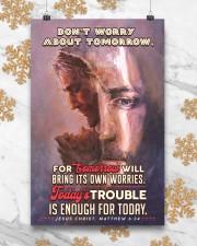 JES10024PT - Jesus Christ Don't Worry Tomorrow 11x17 Poster aos-poster-portrait-11x17-lifestyle-25