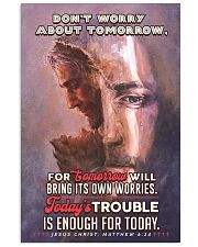 JES10024PT - Jesus Christ Don't Worry Tomorrow 11x17 Poster front