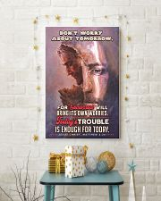 JES10024PT - Jesus Christ Don't Worry Tomorrow 11x17 Poster lifestyle-holiday-poster-3