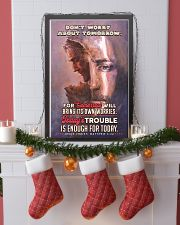 JES10024PT - Jesus Christ Don't Worry Tomorrow 11x17 Poster lifestyle-holiday-poster-4