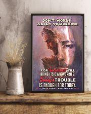 JES10024PT - Jesus Christ Don't Worry Tomorrow 11x17 Poster lifestyle-poster-3