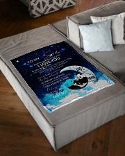 "FBC10033 - Panda To my Son Small Fleece Blanket - 30"" x 40"" aos-coral-fleece-blanket-30x40-lifestyle-front-03"