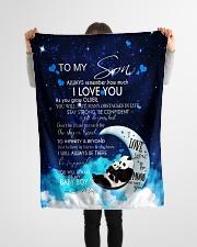 "FBC10033 - Panda To my Son Small Fleece Blanket - 30"" x 40"" aos-coral-fleece-blanket-30x40-lifestyle-front-14"