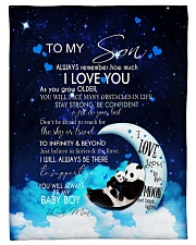 "FBC10033 - Panda To my Son Small Fleece Blanket - 30"" x 40"" front"