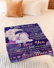 """BL10108 - To My Daughter Unicorn Moon Love Mom Small Fleece Blanket - 30"""" x 40"""" aos-coral-fleece-blanket-30x40-lifestyle-front-01"""