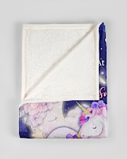 """BL10108 - To My Daughter Unicorn Moon Love Mom Small Fleece Blanket - 30"""" x 40"""" aos-coral-fleece-blanket-30x40-lifestyle-front-17"""