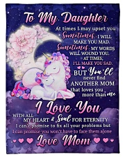 """BL10108 - To My Daughter Unicorn Moon Love Mom Small Fleece Blanket - 30"""" x 40"""" front"""