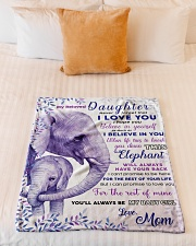 """BL10019 - Beloved Daughter Elephant 2 Small Fleece Blanket - 30"""" x 40"""" aos-coral-fleece-blanket-30x40-lifestyle-front-04"""