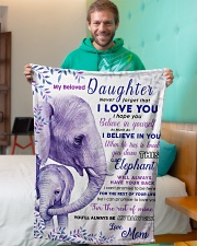 """BL10019 - Beloved Daughter Elephant 2 Small Fleece Blanket - 30"""" x 40"""" aos-coral-fleece-blanket-30x40-lifestyle-front-09"""
