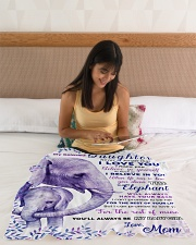 """BL10019 - Beloved Daughter Elephant 2 Small Fleece Blanket - 30"""" x 40"""" aos-coral-fleece-blanket-30x40-lifestyle-front-12"""