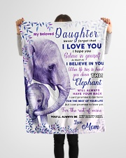 """BL10019 - Beloved Daughter Elephant 2 Small Fleece Blanket - 30"""" x 40"""" aos-coral-fleece-blanket-30x40-lifestyle-front-14"""