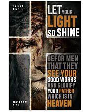 JES10017PT - Jesus Christ Let Your Light So Shine 11x17 Poster front