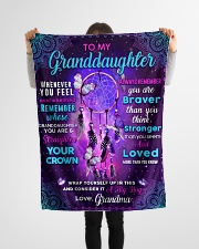 """BL10061 - Granddaughter Butterfly Night Grandma Small Fleece Blanket - 30"""" x 40"""" aos-coral-fleece-blanket-30x40-lifestyle-front-14"""