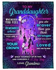"BL10061 - Granddaughter Butterfly Night Grandma Small Fleece Blanket - 30"" x 40"" front"