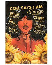 CV10019 - God Says I Am 11x17 Poster front