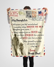 """FBL10081 - To My Daughter Dad Letter Family  Small Fleece Blanket - 30"""" x 40"""" aos-coral-fleece-blanket-30x40-lifestyle-front-14"""