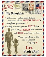 """FBL10081 - To My Daughter Dad Letter Family  Small Fleece Blanket - 30"""" x 40"""" front"""