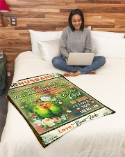 """BL10085 - To My Husband You Are The World Small Fleece Blanket - 30"""" x 40"""" aos-coral-fleece-blanket-30x40-lifestyle-front-08"""