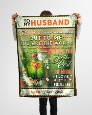 """BL10085 - To My Husband You Are The World Small Fleece Blanket - 30"""" x 40"""" aos-coral-fleece-blanket-30x40-lifestyle-front-14"""