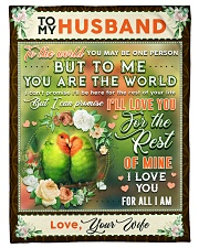 """BL10085 - To My Husband You Are The World Small Fleece Blanket - 30"""" x 40"""" front"""