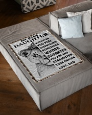 "FBC10021 - Lion Daughter Small Fleece Blanket - 30"" x 40"" aos-coral-fleece-blanket-30x40-lifestyle-front-03"