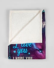 """BL10059 - To My Son Wolf Mom Letter Small Fleece Blanket - 30"""" x 40"""" aos-coral-fleece-blanket-30x40-lifestyle-front-17"""