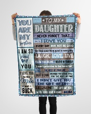 """FBC10013 - Daughter Never Forget That Small Fleece Blanket - 30"""" x 40"""" aos-coral-fleece-blanket-30x40-lifestyle-front-14"""