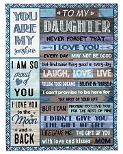 """FBC10013 - Daughter Never Forget That Small Fleece Blanket - 30"""" x 40"""" front"""