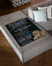 "FBC10003 - Son Lion Small Fleece Blanket - 30"" x 40"" aos-coral-fleece-blanket-30x40-lifestyle-front-03"