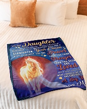"""BL10078 - To My Daughter Mom Letter Unicorn Small Fleece Blanket - 30"""" x 40"""" aos-coral-fleece-blanket-30x40-lifestyle-front-01"""