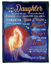 """BL10078 - To My Daughter Mom Letter Unicorn Small Fleece Blanket - 30"""" x 40"""" front"""