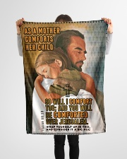 """JES10037BL - Jesus Christ You Will Be Comforted Small Fleece Blanket - 30"""" x 40"""" aos-coral-fleece-blanket-30x40-lifestyle-front-14"""