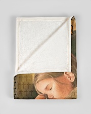 """JES10037BL - Jesus Christ You Will Be Comforted Small Fleece Blanket - 30"""" x 40"""" aos-coral-fleece-blanket-30x40-lifestyle-front-17"""