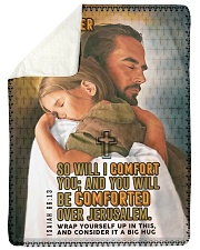 JES10037BL - Jesus Christ You Will Be Comforted Sherpa Fleece Blanket tile