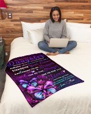 """BL10034 - Beloved Daughter Butterfly Night Small Fleece Blanket - 30"""" x 40"""" aos-coral-fleece-blanket-30x40-lifestyle-front-08"""