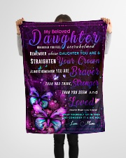 """BL10034 - Beloved Daughter Butterfly Night Small Fleece Blanket - 30"""" x 40"""" aos-coral-fleece-blanket-30x40-lifestyle-front-14"""